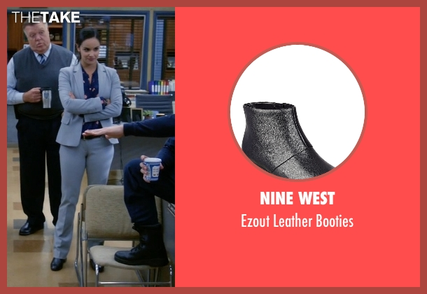 Nine West black booties from Brooklyn Nine-Nine seen with Amy Santiago  (Melissa Fumero)