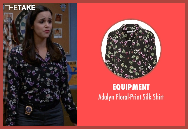 Equipment black shirt from Brooklyn Nine-Nine seen with Amy Santiago  (Melissa Fumero)