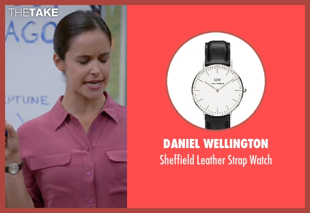 Daniel Wellington black watch from Brooklyn Nine-Nine seen with Amy Santiago  (Melissa Fumero)