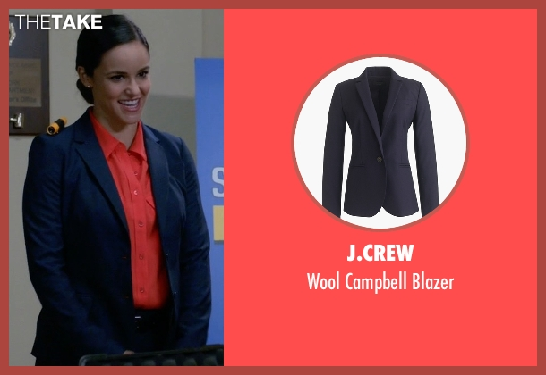 J.Crew blue blazer from Brooklyn Nine-Nine seen with Amy Santiago  (Melissa Fumero)