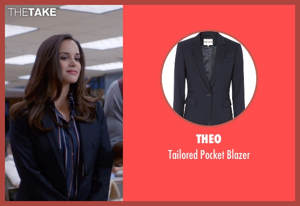 Theo blue blazer from Brooklyn Nine-Nine seen with Amy Santiago  (Melissa Fumero)