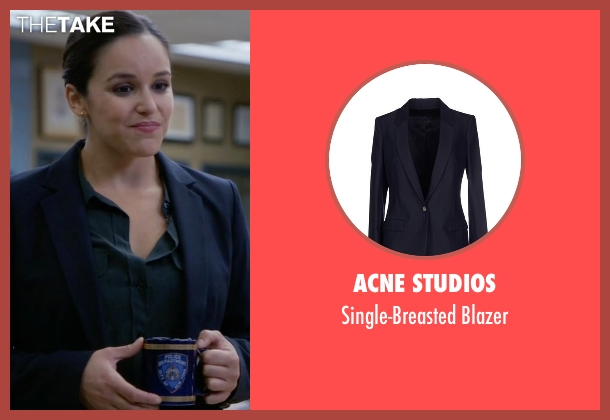Acne Studios blue blazer from Brooklyn Nine-Nine seen with Amy Santiago  (Melissa Fumero)