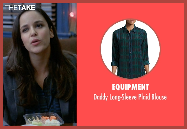 Equipment blue blouse from Brooklyn Nine-Nine seen with Amy Santiago  (Melissa Fumero)