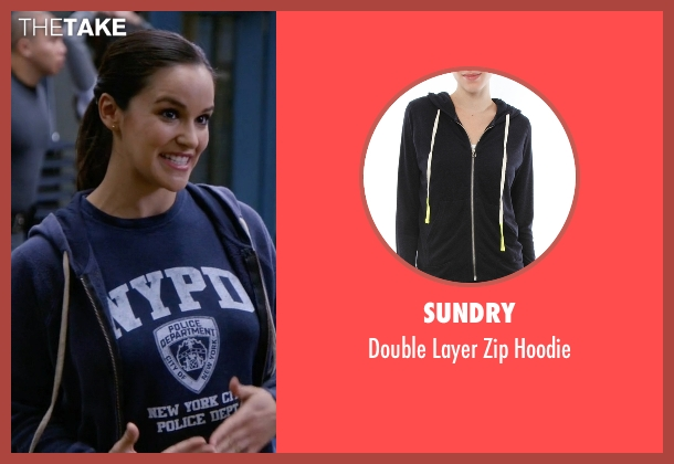 Sundry blue hoodie from Brooklyn Nine-Nine seen with Amy Santiago  (Melissa Fumero)