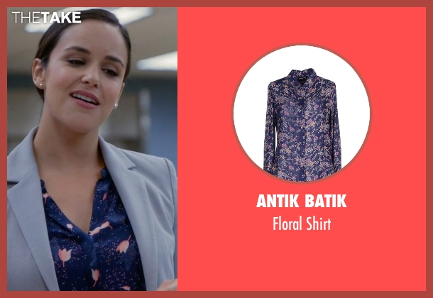 Antik Batik blue shirt from Brooklyn Nine-Nine seen with Amy Santiago  (Melissa Fumero)