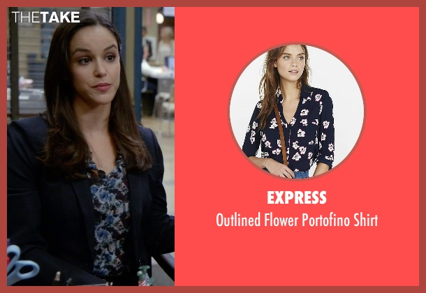 Express blue shirt from Brooklyn Nine-Nine seen with Amy Santiago  (Melissa Fumero)