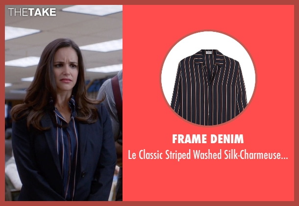 Frame Denim blue shirt from Brooklyn Nine-Nine seen with Amy Santiago  (Melissa Fumero)
