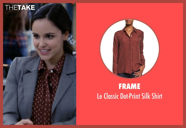 Frame brown shirt from Brooklyn Nine-Nine seen with Amy Santiago  (Melissa Fumero)