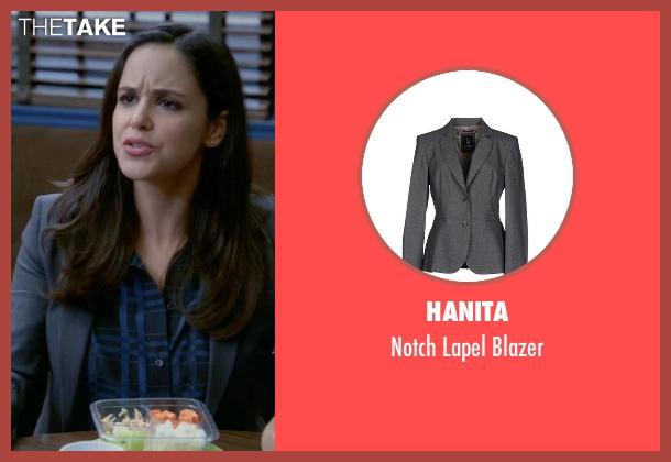Hanita gray blazer from Brooklyn Nine-Nine seen with Amy Santiago  (Melissa Fumero)