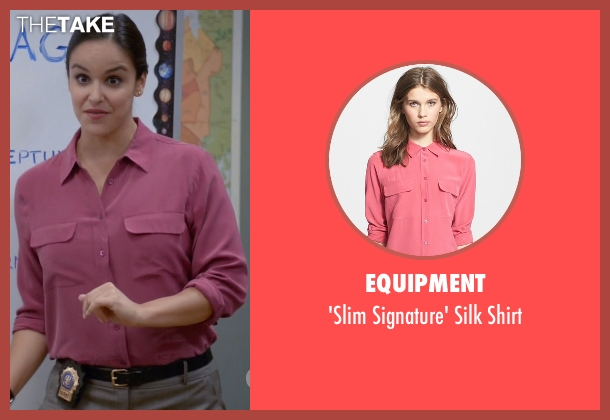Equipment pink shirt from Brooklyn Nine-Nine seen with Amy Santiago  (Melissa Fumero)