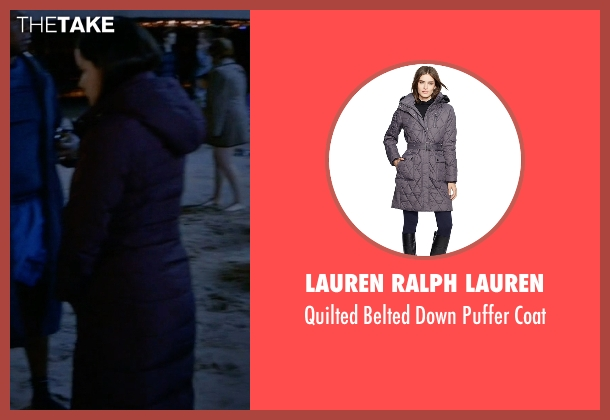 Lauren Ralph Lauren purple coat from Brooklyn Nine-Nine seen with Amy Santiago  (Melissa Fumero)