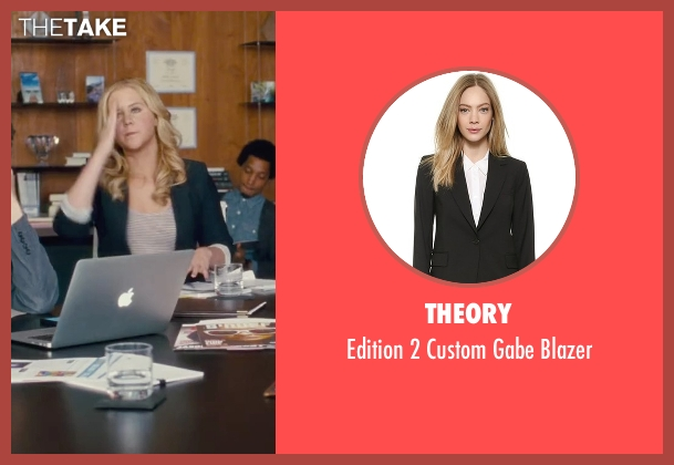 Theory black blazer from Trainwreck seen with Amy Schumer (Amy)