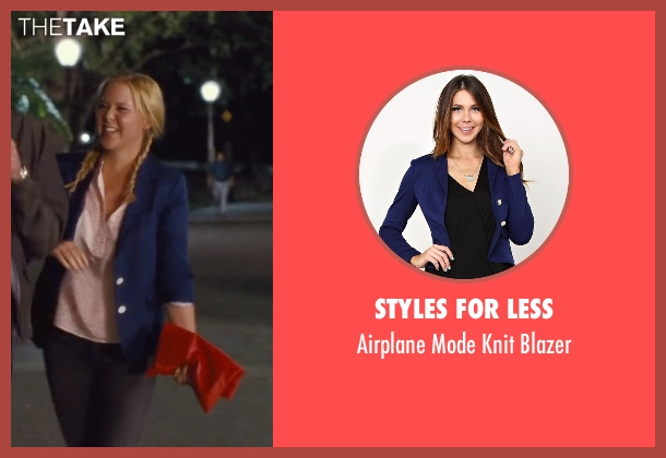 Styles For Less blue blazer from Trainwreck seen with Amy Schumer (Amy)