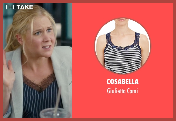 Cosabella brown cami from Trainwreck seen with Amy Schumer (Amy)