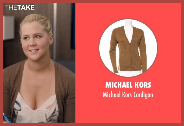 Michael Kors brown cardigan from Trainwreck seen with Amy Schumer (Amy)