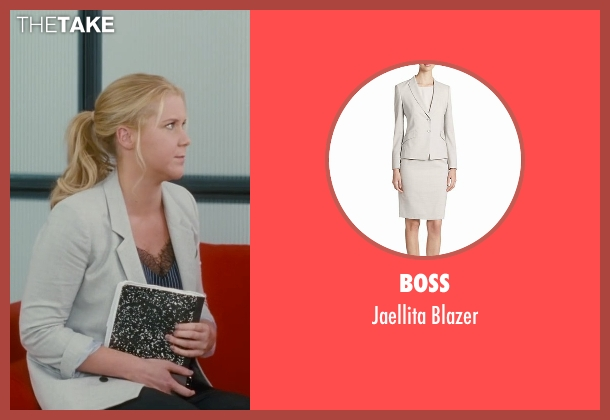 Boss gray blazer from Trainwreck seen with Amy Schumer (Amy)