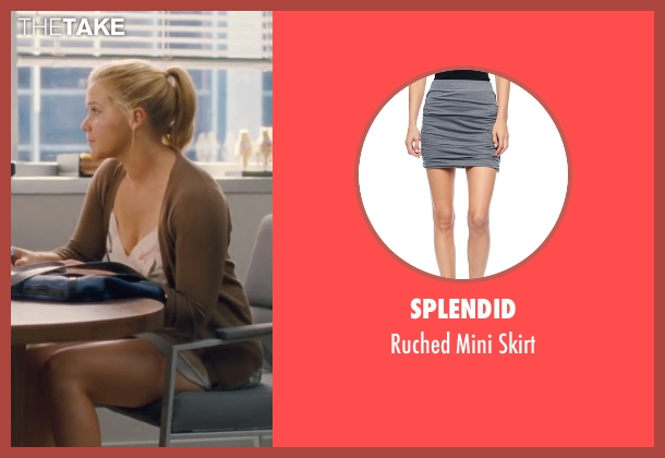 Splendid gray skirt from Trainwreck seen with Amy Schumer (Amy)