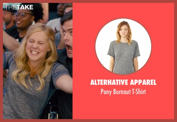 Alternative Apparel gray t-shirt from Trainwreck seen with Amy Schumer (Amy)