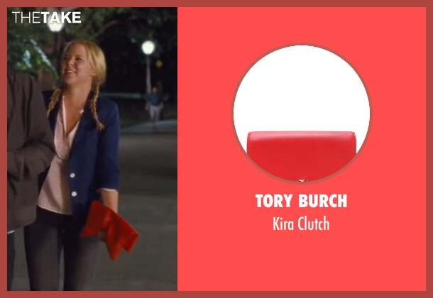 Tory Burch red clutch from Trainwreck seen with Amy Schumer (Amy)