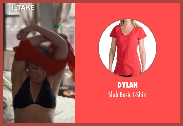 Dylan red t-shirt from Trainwreck seen with Amy Schumer (Amy)