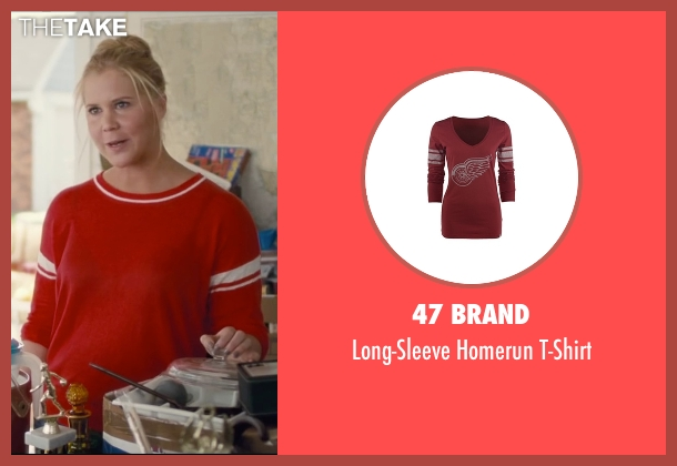 47 Brand red t-shirt from Trainwreck seen with Amy Schumer (Amy)