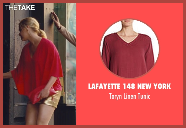 Lafayette 148 New York red tunic from Trainwreck seen with Amy Schumer (Amy)