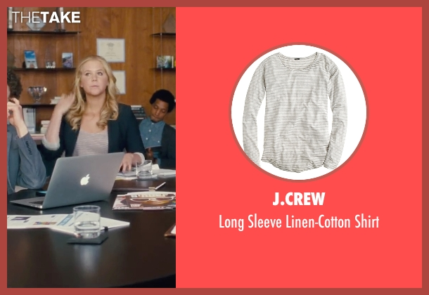 J.Crew white shirt from Trainwreck seen with Amy Schumer (Amy)