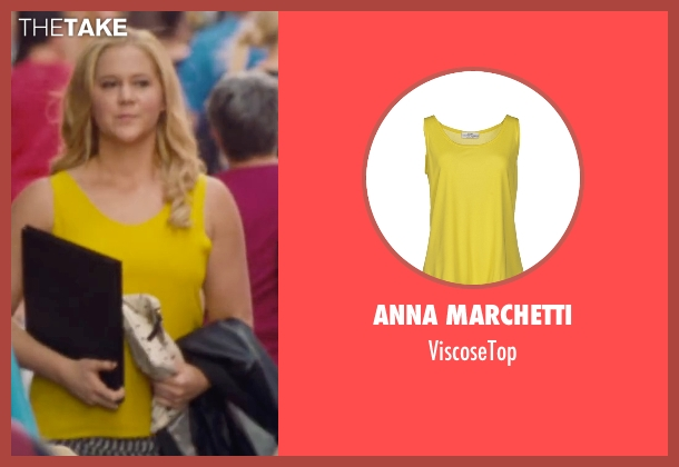 Anna Marchetti yellow viscosetop from Trainwreck seen with Amy Schumer (Amy)