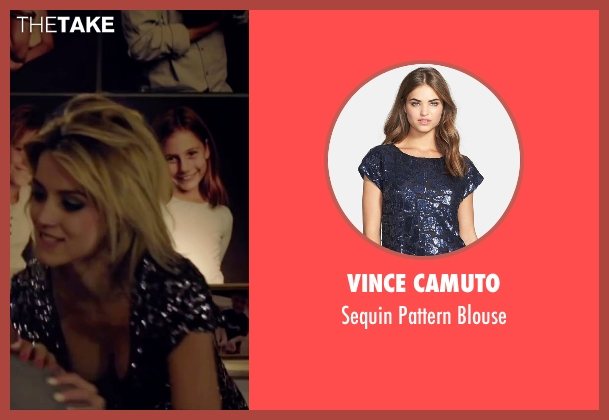Vince Camuto black blouse from Knock Knock seen with Ana de Armas (Bel)
