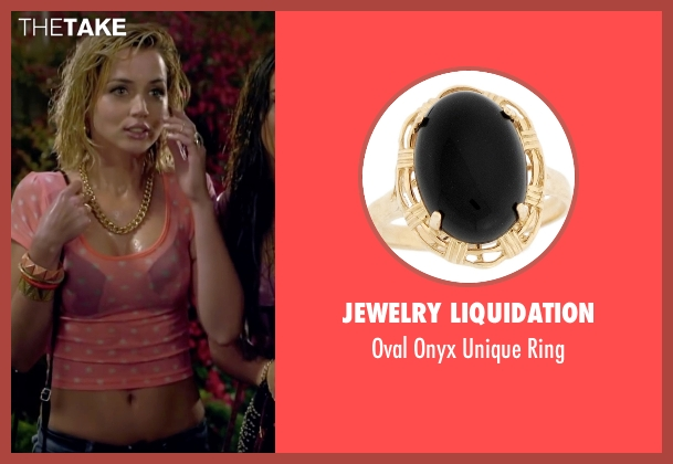 Jewelry Liquidation black ring from Knock Knock seen with Ana de Armas (Bel)
