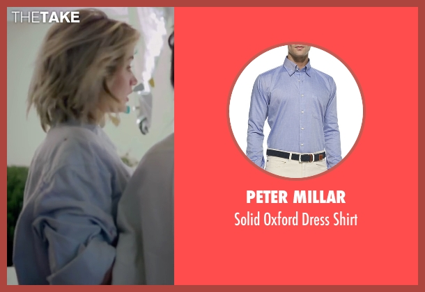 Peter Millar blue shirt from Knock Knock seen with Ana de Armas (Bel)