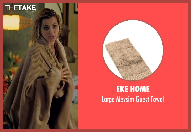 Eke Home brown towel from Knock Knock seen with Ana de Armas (Bel)