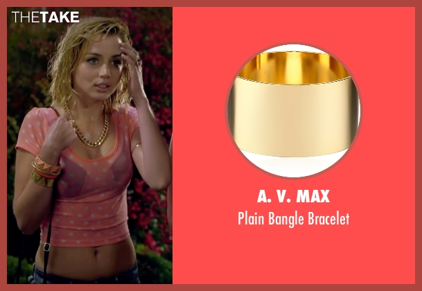A. V. Max gold bracelet from Knock Knock seen with Ana de Armas (Bel)