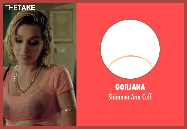 Gorjana gold cuff from Knock Knock seen with Ana de Armas (Bel)