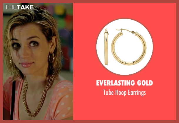 Ana De Armas Everlasting Gold Tube Hoop Earrings From
