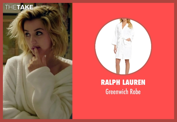 Ralph Lauren white robe from Knock Knock seen with Ana de Armas (Bel)
