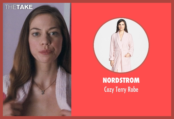 Nordstrom pink robe from Crazy, Stupid, Love. seen with Analeigh Tipton (Jessica)