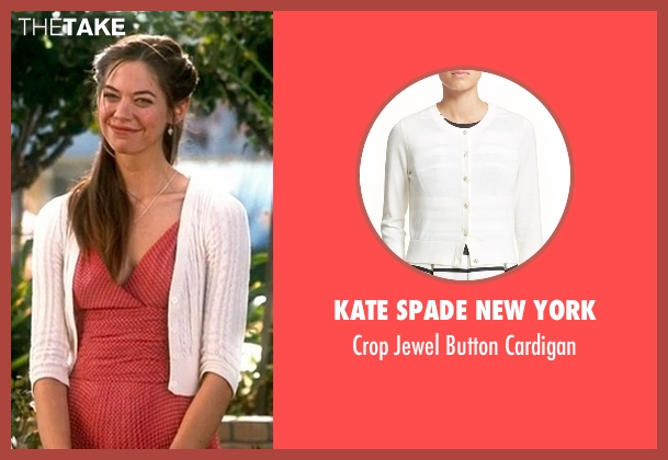 Kate Spade New York  white cardigan from Crazy, Stupid, Love. seen with Analeigh Tipton (Jessica)