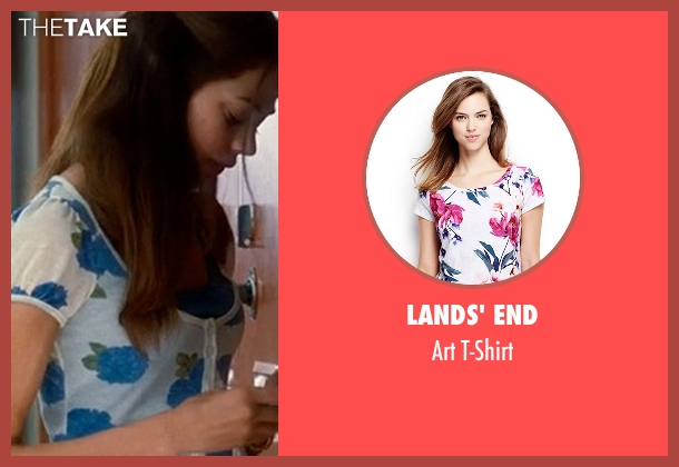Lands' End white t-shirt from Crazy, Stupid, Love. seen with Analeigh Tipton (Jessica)