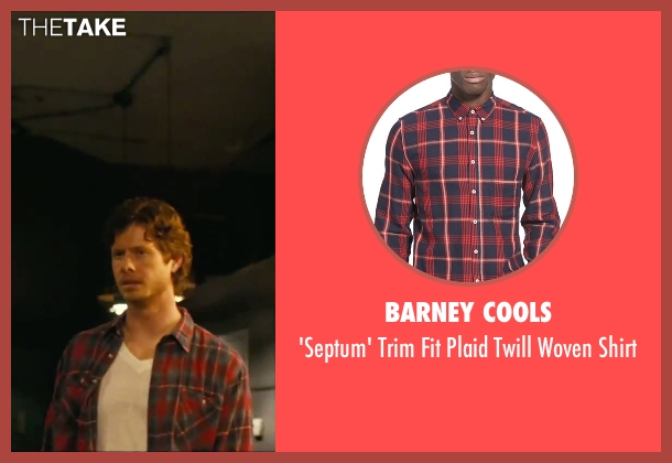 Barney Cools red shirt from How To Be Single seen with Anders Holm (Tom)