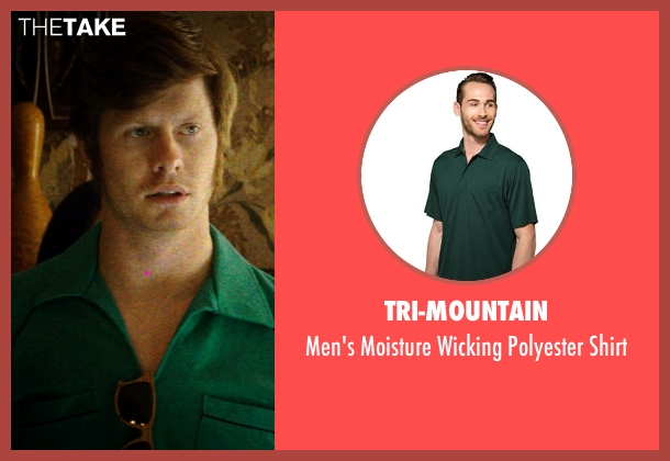 Tri-Mountain green shirt from Neighbors seen with Anders Holm (Beer Pong Guy #3)
