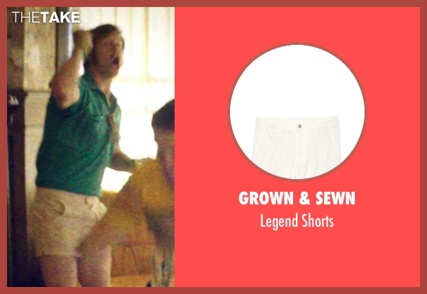 Grown & Sewn white shorts from Neighbors seen with Anders Holm (Beer Pong Guy #3)