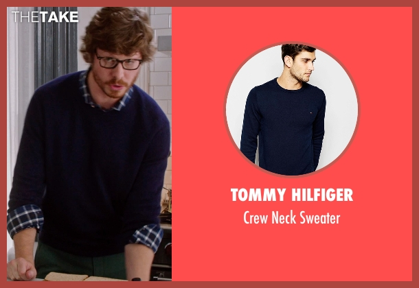 Tommy Hilfiger blue sweater from The Intern seen with Anders Holm (Unknown Character)