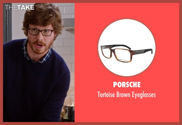 Porsche brown eyeglasses from The Intern seen with Anders Holm (Unknown Character)