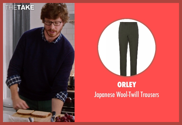 Orley green trousers from The Intern seen with Anders Holm (Unknown Character)