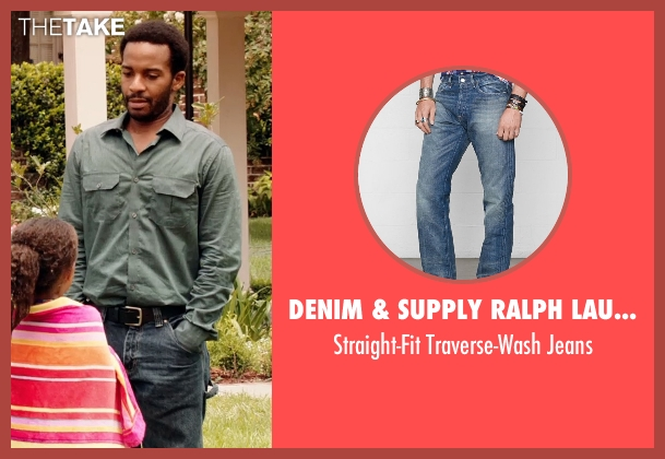 Denim & Supply Ralph Lauren blue jeans from Black or White seen with André Holland (Reggie Davis)