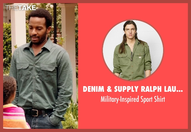 Denim & Supply Ralph Lauren green shirt from Black or White seen with André Holland (Reggie Davis)