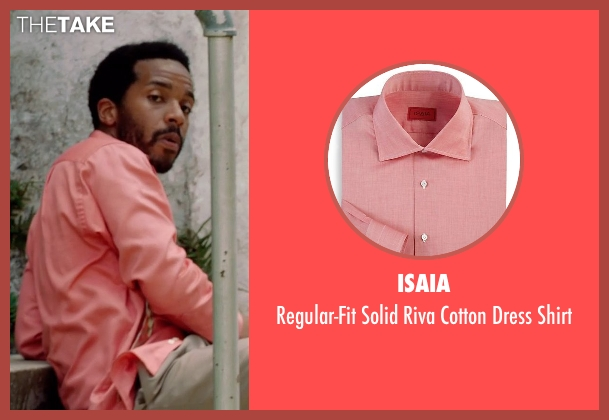 Isaia pink shirt from Black or White seen with André Holland (Reggie Davis)