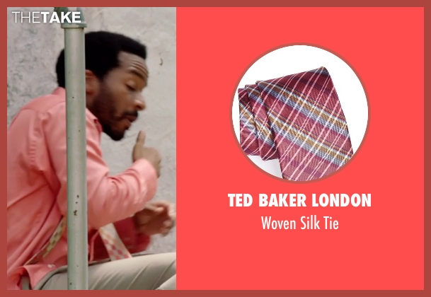 Ted Baker London pink tie from Black or White seen with André Holland (Reggie Davis)