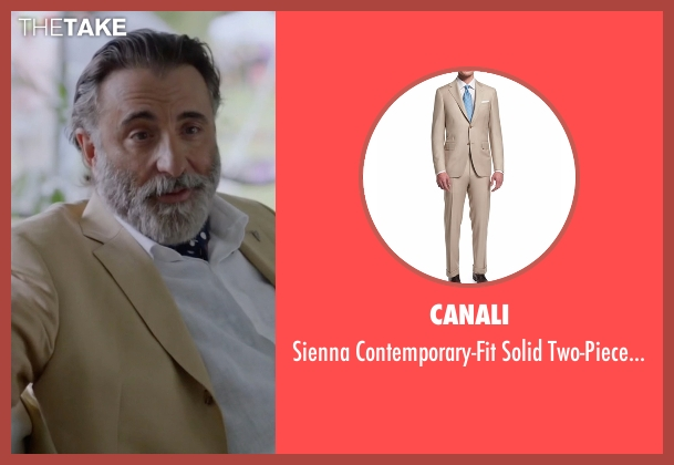 Canali  beige suit from Ballers seen with Andre Allen (Andy Garcia)
